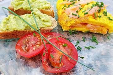 Omelett mit geräuchertem Lachs