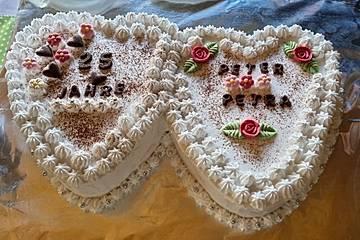 Erdbeer - Hochzeitstorte