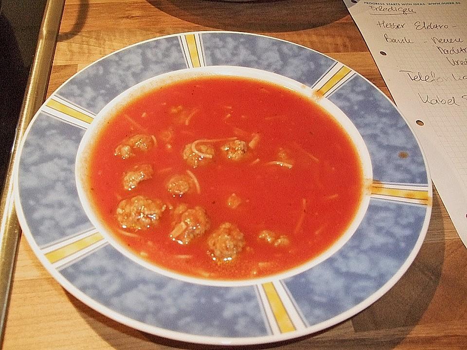 tomatensuppe mit fleischbällchen von oma vonne chefkoch