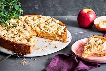 Apfelmus-Vanillepudding-Kuchen