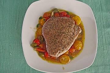 Kurz gebratener Thunfisch auf italienische Art