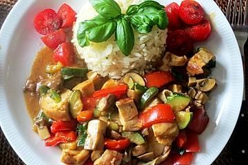 Hähnchen-Gemüse-Pfanne