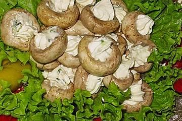 Gefüllte Champignons mit Frischkäse und Knoblauch