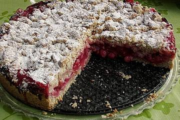 Feiner Johannisbeer - Streuselkuchen