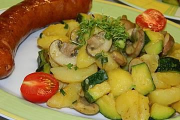 Kartoffel - Zucchini - Champignon - Beilage