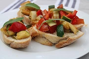 Gemüse - Bruschetta