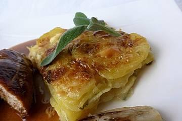Salbei - Kartoffelgratin mit Parmesan