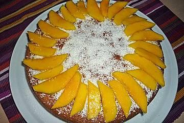 Schoko - Mandel - Mango - Kuchen