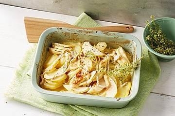 Kartoffel-Apfel-Auflauf mit Camembert