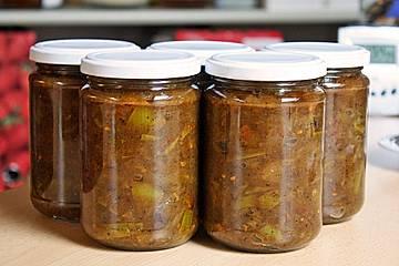 Chutney mit grünen Tomaten von Rosinenkind