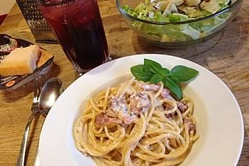 Spaghetti Carbonara ohne Sahne