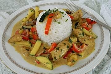Putengeschnetzeltes mit Cashew - Curry