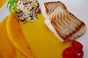 Fischfilet mit fruchtig - scharfer Mangosauce