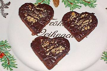 Weihnachtsplätzchen Schokoladenplätzchen.Gefüllte Schokoladenplätzchen