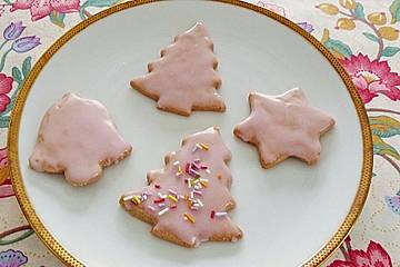 Glasur Weihnachtsplätzchen.Zimt Plätzchen Mit Punschglasur