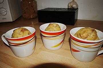Pilz - Muffins mit Basilikum