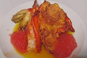 Hummer in der Orangenkruste mit Ingwer - Orangen - Sauce