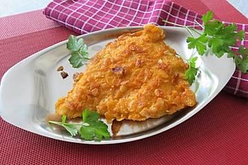 Putenschnitzel in Mandelkruste