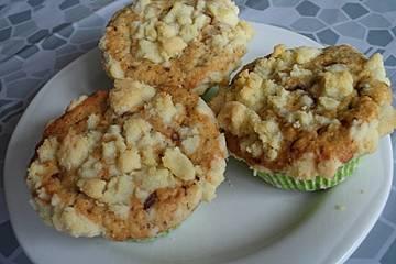 Schoko - Nuss - Muffins mit Streuseln