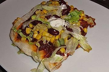 Mexikanische Wrap - Pizza