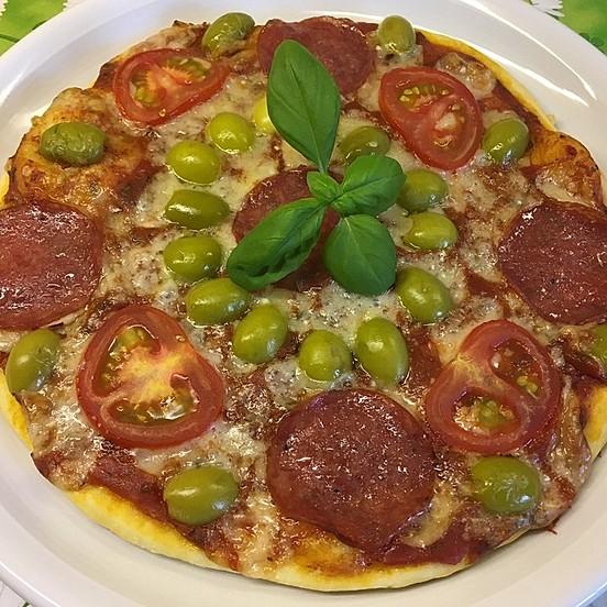 Hervorragend Marinas Pizzateig mit Backpulver von Marecora | Chefkoch QC29