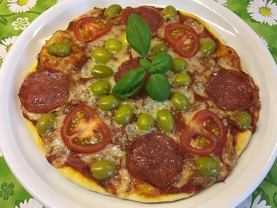 Berühmt Marinas Pizzateig mit Backpulver von Marecora | Chefkoch WC07