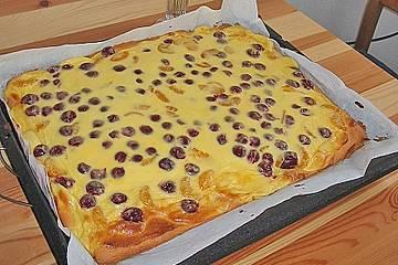 Kirsch - Schmand Blechkuchen