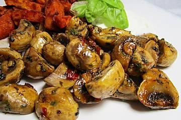 Knoblauch-Chili-Champignons