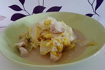 Wok - Hähnchen mit Chinakohl
