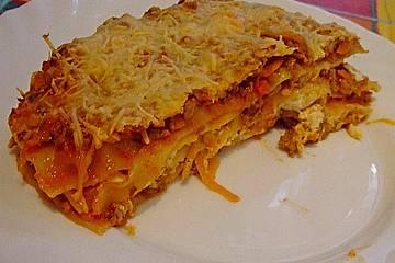 Möhren - Hack - Lasagne mit Schafskäse