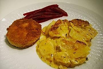 Kartoffelgratin mit Frischkäse