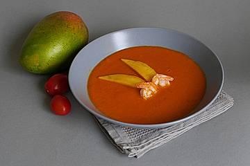 """""""Tomatensuppe tropisch"""" mit Mango und Ingwer"""