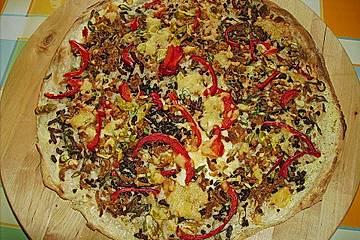 Pizza nach Flammkuchenart
