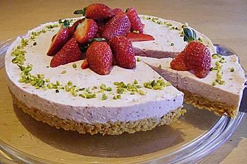 Erdbeer - Torte mit Knusperboden