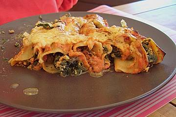 Cannelloni mit Tofu - Spinatfüllung
