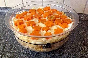 Salat Weihnachten.Salat Zu Weihnachten