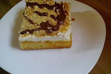 Orangen - Sahnekuchen mit Cantuccini - Streuseln