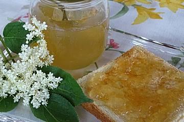 Holunderblüten-Prosecco Gelee