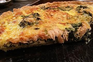 Lachs - Spinat - Tarte