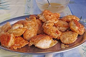 Hähnchenfilets mit Honig - Senf - Dip