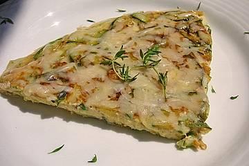 Zucchini-Frittata mit frischem Thymian