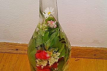 Rosenblüten-Holunder-Melissen Essig