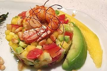 Avocado-Mango Salsa mit Garnelen