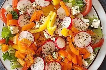 Paprika-Schafskäse Salat