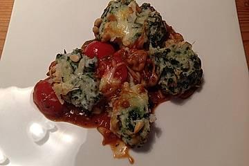 Spinatklößchen mit Parmesan