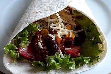 Albertos Wraps mit Chili con Carne