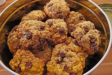 Haferflocken-Kokos Cookies mit Schokotropfen