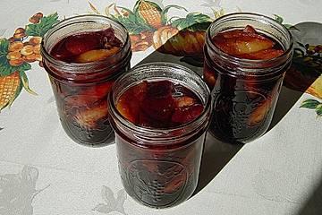 Rotwein-Rum Zwetschgen