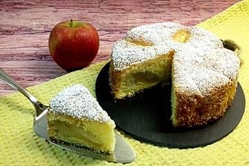 Einfacher versunkener Apfelkuchen