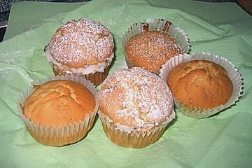 Gefüllte Bananen - Kakao Muffins